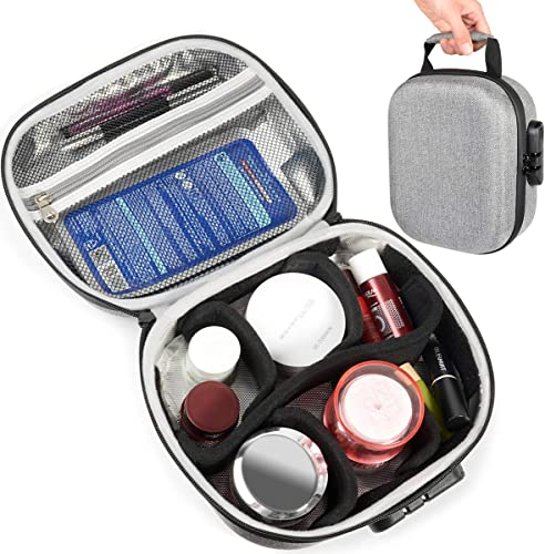 new arrival InGo wholesale Smell Proof Stash Case, semi Hard case with Odor and Temperature Control, outlet sale Featured case with Combo Lock, Smart Divider, mesh Zipper Pocket and Elegant Handle outlet online sale