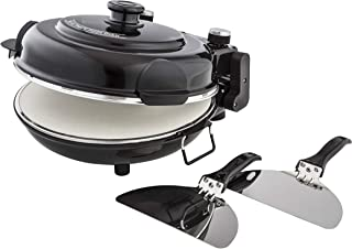 MasterPro Electric Pizza Maker and Oven, Cooks Homemade or Frozen Pizza in just 5 Minutes. Dual Heating Elements Heats to ...