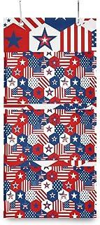 XIXIKO - Sac de rangement mural à suspendre avec 3 poches - Motif drapeau américain - Pour vêtements, articles divers, éco...