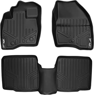 MAXLINER Floor Mats 2 Row Liner Set Black for 2017-2018 Ford Explorer Without 2nd Row Center Console