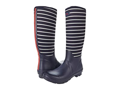 Joules Neoprene Printed Welly (French Navy Stripe) Women