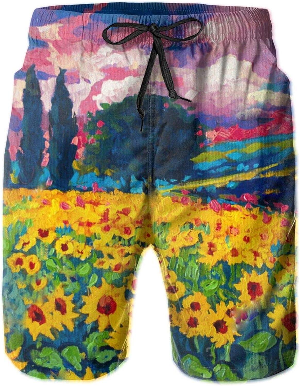 Yt92Pl@00 Men's wholesale 100% Polyester Latest item Oil Comfort Trunks Painting Swim