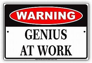 caution genius at work
