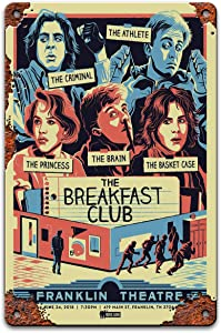 The Breakfast Club Vintage Movie Metal Tin Sign For Man Cave Wall Decor Classic Psycho Poster 8x12 Inch By PatriJonesck