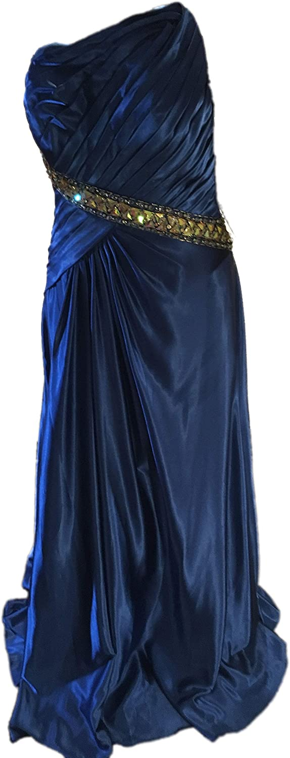 Tony Bowls Le Gala Cornflower bluee Long Evening Gown for Formal & Special Occasions
