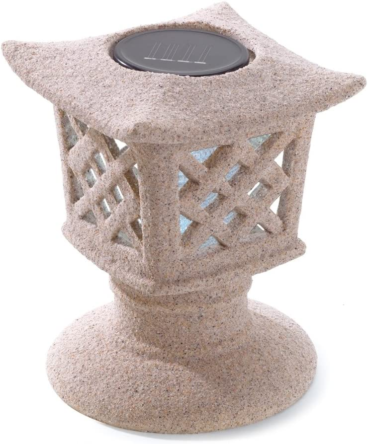 Clearance SALE! Limited time! Gifts Decor Solar Wholesale Powered Outdoor Pagoda Ceramic Lamp