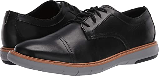 Black Leather/Grey Outsole