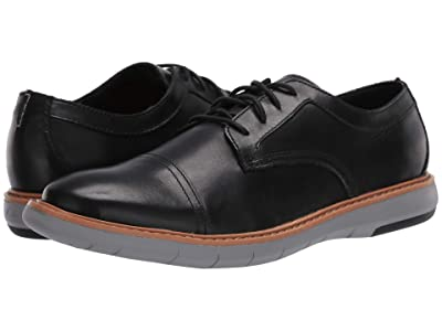Clarks Draper Cap (Black Leather/Grey Outsole) Men