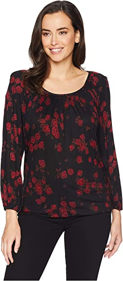 Eden Rose Peasant Top