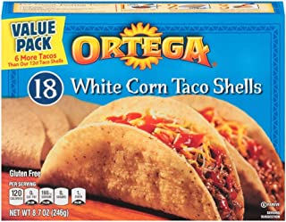 Ortega Taco Shells, Whole Grain, 18 Count, Pack of 12