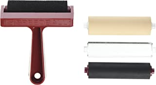 Speedball 4-Inch Pop-in Brayer and Rollers, 4-Pack