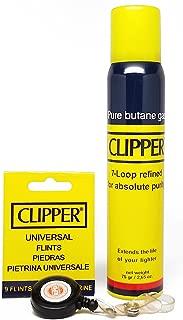 Bundle - 3 Items - Clipper Butane, Clipper Flints and RPD Lighter Lasso