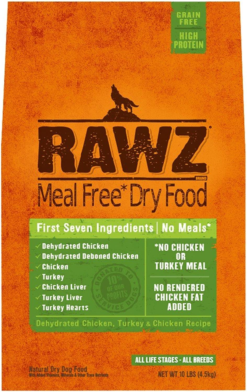 Rawlzreg; Meal Free Dry Dog Food Deidred  cken, Turkey  cken Recipe (10 lb)