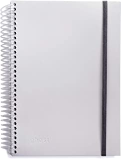Ghost Paper Spiral Notebook - Embossed Lined Pages