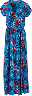 That Bird Label Womens Maxi Dresses Serena Maxi Dress Painted Waratah Blue