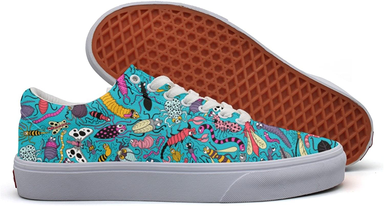 Insect Collection Women's Casual Sneakers Canvas Slip Spring Gym