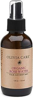olivia care organic rose water mist