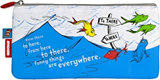 Dr Seuss One Fish Two Fish (Emotive) Small Pencil Case for Kids and Young Adults at School or Work