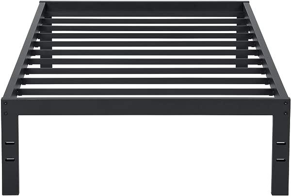 Olee Sleep VC14BX10T New Dura Metal Steel Slate Bed Frame Twin Black