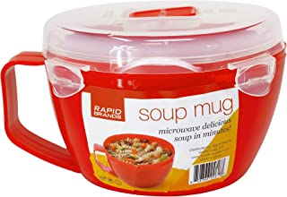 Rapid Soup Mug   Microwave Soup & Noodles in Minutes   Perfect for Dorm, Small Kitchen, or Office   Dishwasher-Safe, Microwaveable, BPA-Free