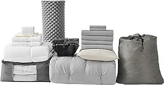 College Dorm Bedding Pack - Twin XL - Pin Tuck Glacier Gray Color Set