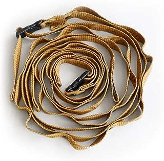 C&C.P.H.EQUIPEMENT Long Daisy chain ロングディジーチェーン 20mm [ カーキ×ブラック/最長 294cm ]
