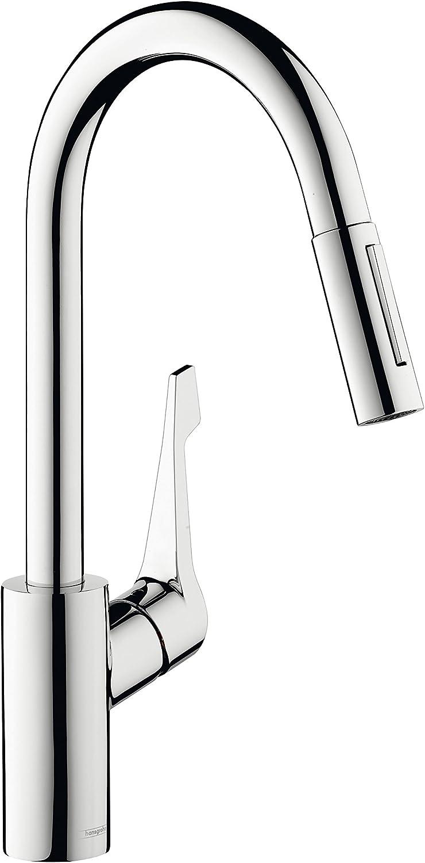 Hansgrohe Cento XL Einhebel-Küchenarmatur mit ausziehbarer Brause und Schwenkauslauf, chrom