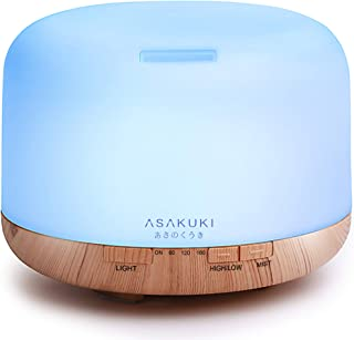 ASAKUKI 500ml Premium, Essential Oil Diffuser, 5 in 1 Ultrasonic Aromatherapy Fragrant Oil Humidifier Vapor...