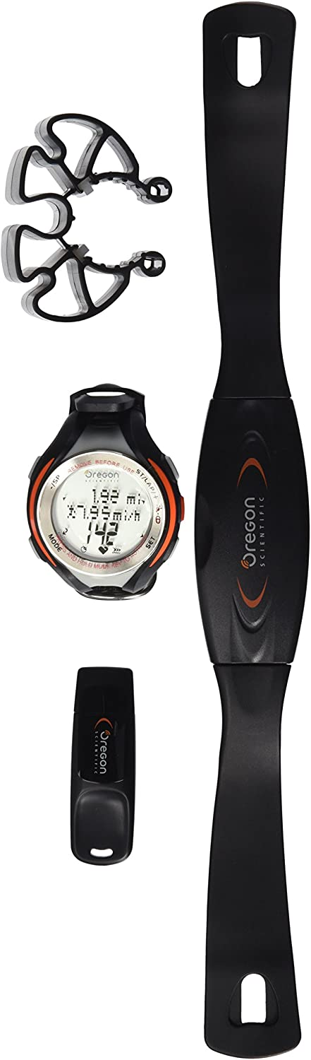 Oregon Scientific SE833 Pc Download Heart Rate Monitor with Speed, Distance and Cadence, Black