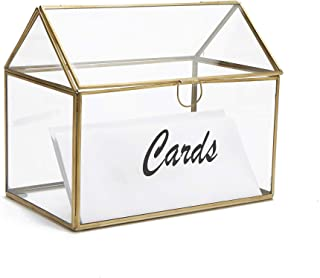 Mind Reader CARDH-CLR Wedding, Invitation, Graduation, Birthday, Gift Holder, Glass Card Box, Clear