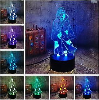 Naruto Anime Night Light Uchiha Itachi Model 3D LED Illusion Table Deak Lamp 7 Color Changing Home Decor Naruto Fans Xmas ...