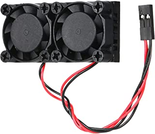 Tykeed Universal Raspberry Pi Cooling Dual Fan DC 5V and RAM Copper Heatsink for for Raspberry Pi 4 Model B Raspberry Pi 3/2 Model B 3B+ (Black)