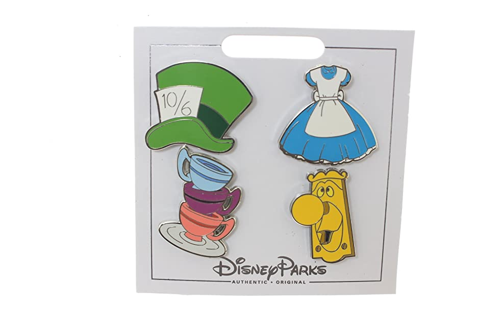 Disney Alice In Wonderland 4 Pin Mini Pin Set