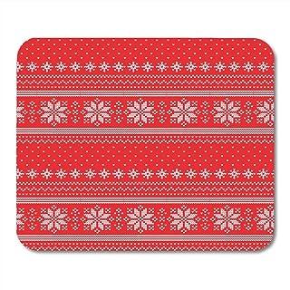 comprar comparacion Yanteng Almohadillas para Mouse Árboles Punto Rojo Navidad Punto Patrón Abstracto Blanco Lindo tapetes para ratón Alfombrilla
