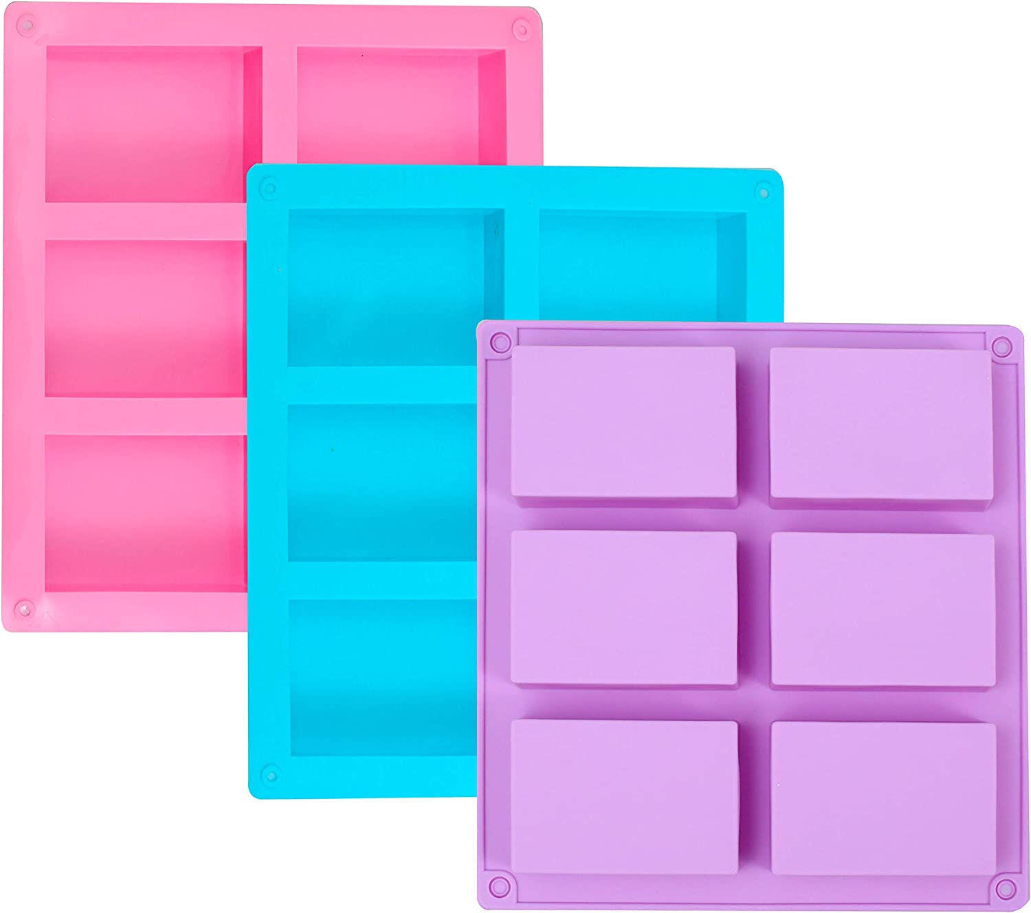 3 Pack Surprise price Silicone Soap Molds Baking 6 Bl Cavities New life