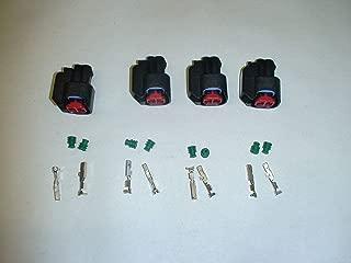 4 Uscar Injector Dynamics Connector Pigtail Clips EV6 EV14 Bosch Siemens Deka