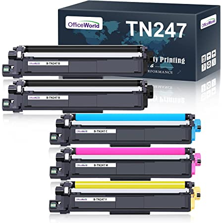 OfficeWorld Cartuccia Toner TN-247 TN-243 Sostituzione per Brother TN247 TN243 per Brother MFC-L3730CDN MFC-L3750CDW, Brother HL-L3210CW HL-L3230CDW HL-L3270CDW, Brother DCP-L3550CDW DCP-L3510CDW