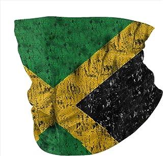 Lsjuee Giamaica Bandiera Orgogliosi Giamaicani Bandane Scaldacollo Coprispalle Coprispalle Sciarpa Passamontagna per Donna...
