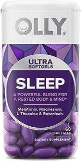 OLLY Ultra Sleep Softgels, 6 mg Melatonin, Supports Deep Restful Sleep, Magnesium, L-Theanine, Chamomile, and Lemon Balm, ...