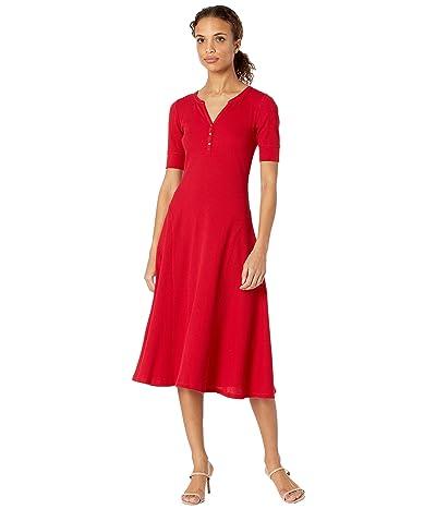 LAUREN Ralph Lauren Waffle Knit Fit-and-Flare Dress