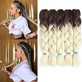 Best brown to pink ombre braiding hair Reviews