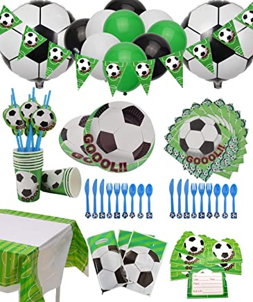 Amazon com: Soccer Party Supplies Sport Theme Party Pack