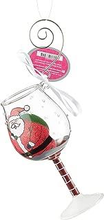 Lolita Mini Wine Glass Ornament with Hanging Hook and Gift Box (Stuck Santa, 6002993)