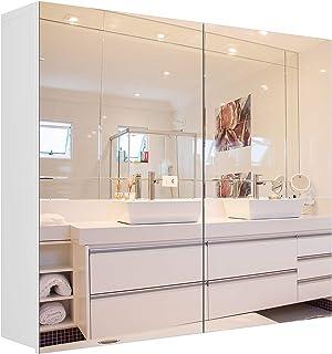 Homfa Bathroom Mirror Cabinet, 27.6 X 23.6 Inch Wall Mounted Medicine Cabinet with Adjustable Shelf, Storage Mirror Cabine...