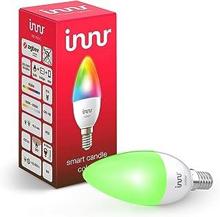 Innr E14 Smart LED-kaarslamp Color, compatibel met Philips Hue*, Alexa & Hey Google (bridge vereist), dimbaar, 16 miljoen ...