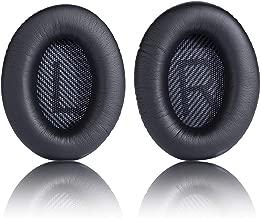 Replacement Ear Pad Cushion Memory Foam Ear Cup Repair for Bose Headphones Quiet Comfort 2 Qc2, Qc15, 25 Qc25, Ae2, Ae2I, Ae2W Headphone (Black v2)