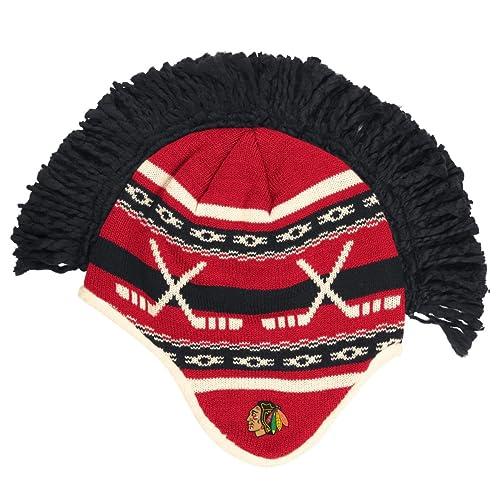 89fd77eeb Reebok Chicago Blackhawks NHL Spiked Mohawk Knit Hat