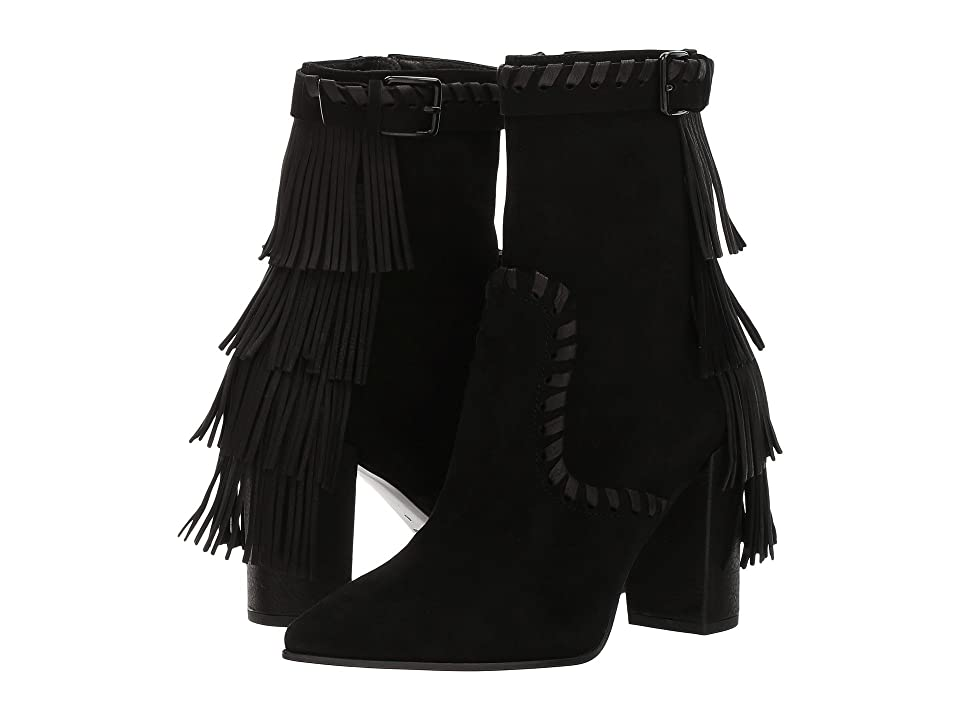 Kennel & Schmenger Miley Fringe Boot (Schwarz Samtz/Calf) Women