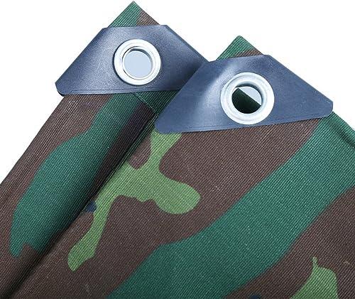 WHYDIANPU Tarpaulin Toile de Camouflage Tente extérieure épaisse de bache de Prougeection Solaire de bache imperméable de canopée, 500g   m2 Various Tailles