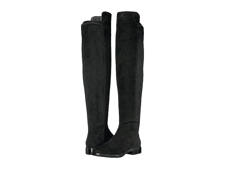 Massimo Matteo Side Zip Stretch Tall Boot (Black) Women